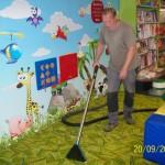 Hloubková dezinfekce koberce v mateřské škole Praha